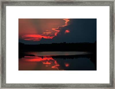 Fiery Evening Framed Print