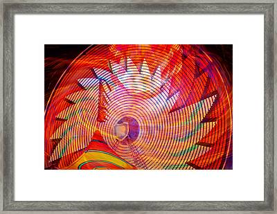 Framed Print featuring the photograph Fiery Ferris Wheel by David Lee Thompson