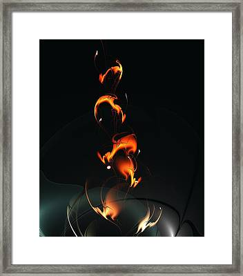 Fiery Flower Framed Print by Anastasiya Malakhova