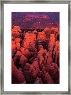 Framed Print featuring the photograph Fiery Furnace by Dustin LeFevre