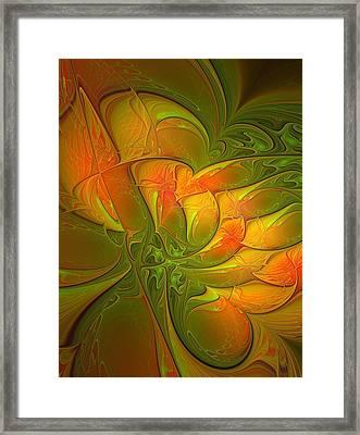 Fiery Glow Framed Print by Amanda Moore