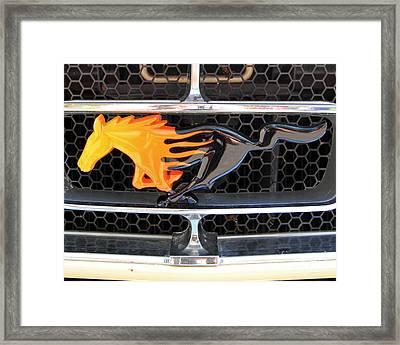Fiery Mustang Framed Print