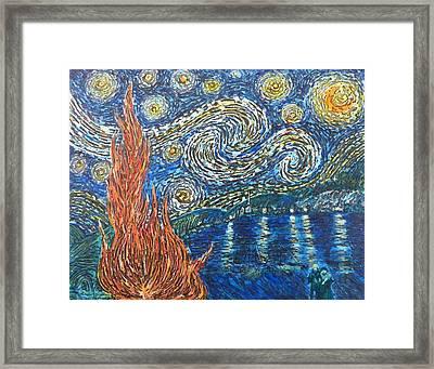 Fiery Night Framed Print