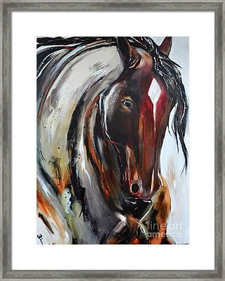 Framed Print featuring the painting Fiery Red Head by Cher Devereaux