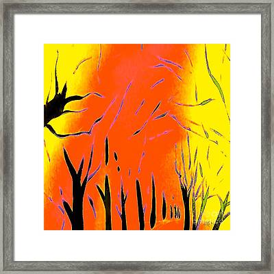 Fiery Road Framed Print