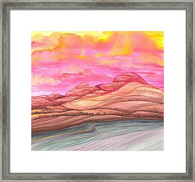 Fiery Sky Framed Print