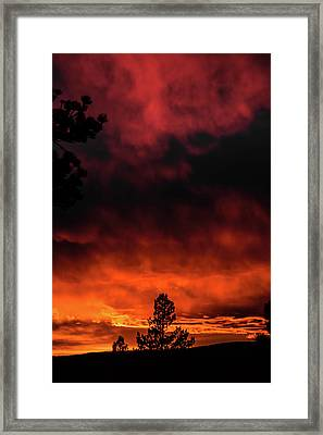 Fiery Sky Framed Print by Jason Coward