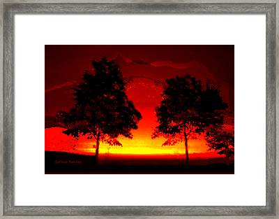 Fiery Sundown Framed Print