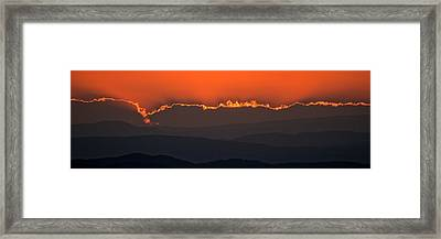 Fiery Sunset In The Luberon Framed Print