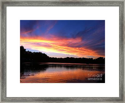 Fiery Sunset Framed Print by Jason Nicholas