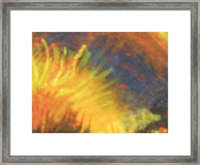 Fiery Tempest Framed Print by Anne-Elizabeth Whiteway