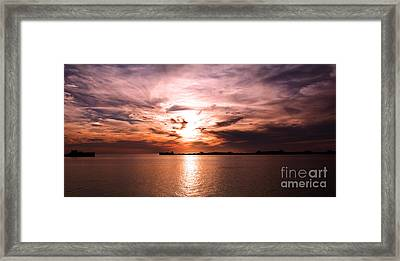 Fiery Tranquility  Framed Print