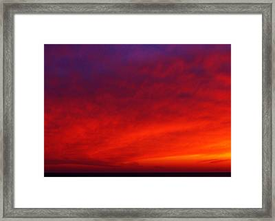 Fiery Vortex Framed Print