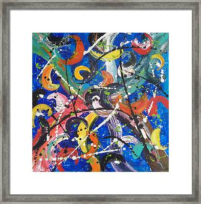 Fiesta Blue Framed Print