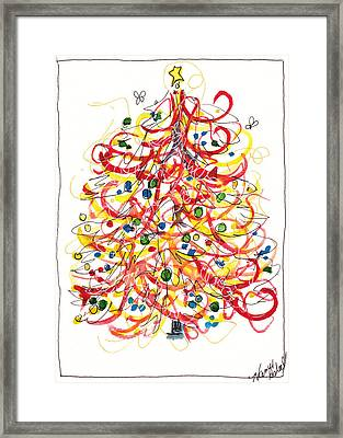 Fiesta Christmas Tree Framed Print by Michele Hollister - for Nancy Asbell