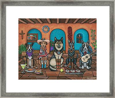 Fiesta Dogs Framed Print