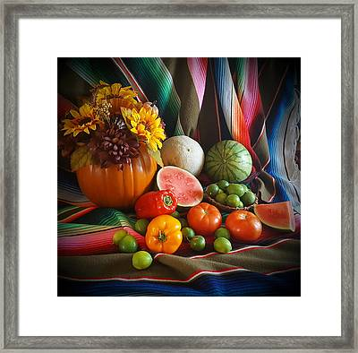 Framed Print featuring the painting Fiesta Fall Harvest by Marilyn Smith