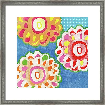 Fiesta Floral 3- Art By Linda Woods Framed Print