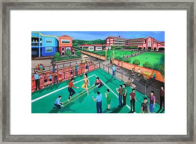 Fiesta Ko Sa Houston Framed Print by Cyril Maza