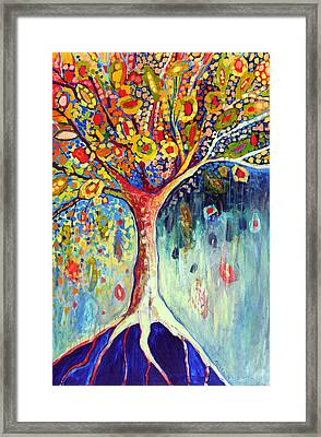 Fiesta Tree Framed Print by Jennifer Lommers