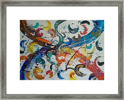 Fiesta White Framed Print