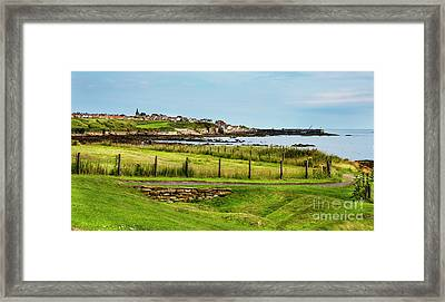 Fife Coastal Pathway Leading To Pittenweem Framed Print by MaryJane Armstrong