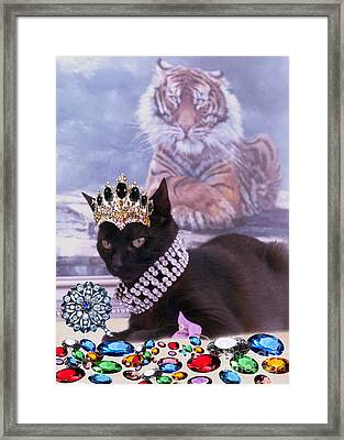 Fifi Diamonds Are A Kitten Best Friends Framed Print by Silvia  Duran