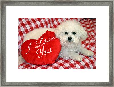 Fifi Loves You Framed Print