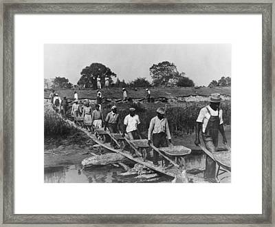 Fifteen African American Laborers Framed Print by Everett