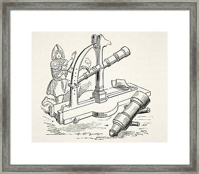 Fifteenth Century Canon. From The Framed Print