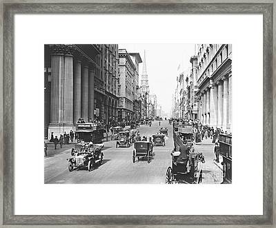 Fifth Avenue And East 34th Street New York City 1907 Framed Print by Padre Art