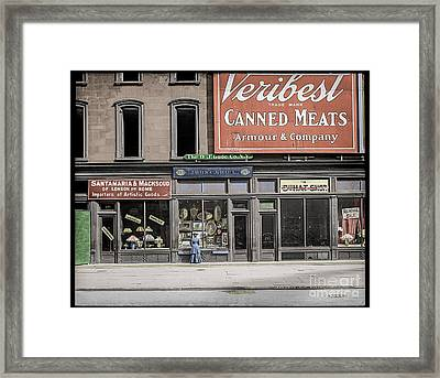 Fifth Avenue Colourised Framed Print by Russ Brown