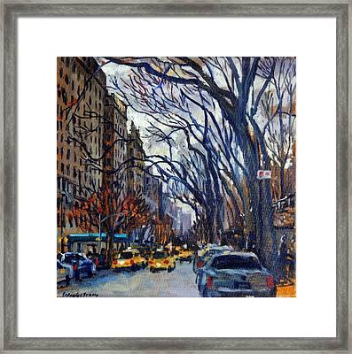 Fifth Avenue In November Framed Print