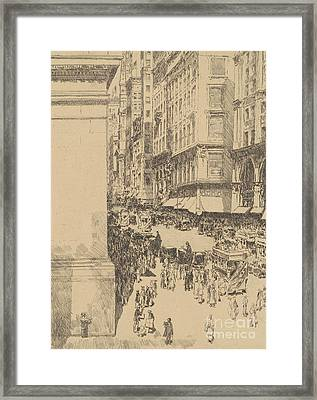 Fifth Avenue, Noon, 1916  Framed Print