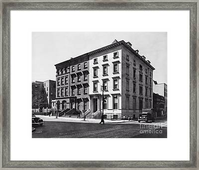 Fifth Avenue Nos 4 6 8 Framed Print by Lionel F Stevenson