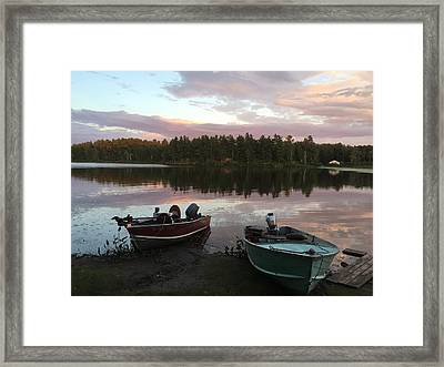 Fifth Lake Framed Print by Jaeson Tanner