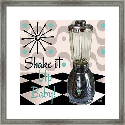 Fifties Kitchen Blender Framed Print by Mindy Sommers