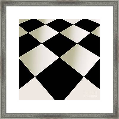 Fifties Kitchen Checkerboard Floor Framed Print by Mindy Sommers
