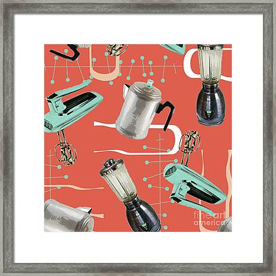 Fifties Kitchen Iv Framed Print by Mindy Sommers