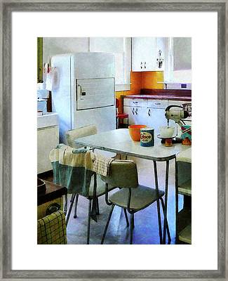 Fifties Kitchen Framed Print by Susan Savad
