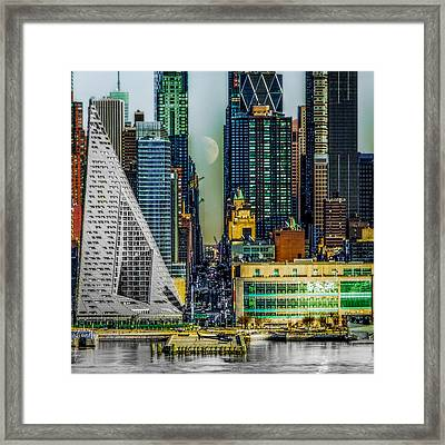 Framed Print featuring the photograph Fifty-seventh Street Fantasy by Chris Lord