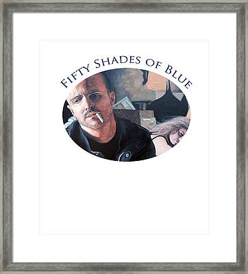 Framed Print featuring the painting Fifty Shades Of Blue by Tom Roderick