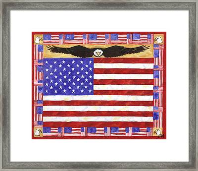 Fifty Stars Framed Print by Linda Mears