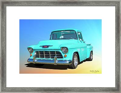 Fifty5 Stepside Pickup Framed Print