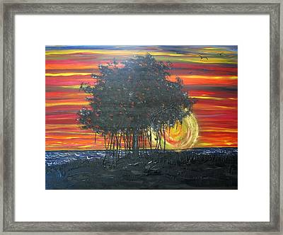 Fig At Sunset Framed Print