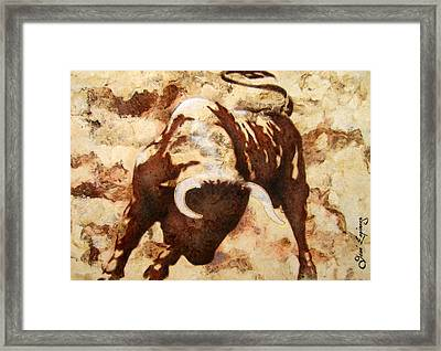 Fight Bull Framed Print