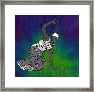 Fight For Your Right To Dance Framed Print by M Blaze Wolenski