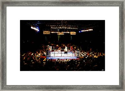 Fight Night Framed Print by David Lee Thompson