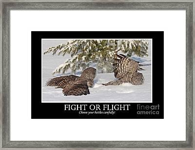 Fight Or Flight Framed Print