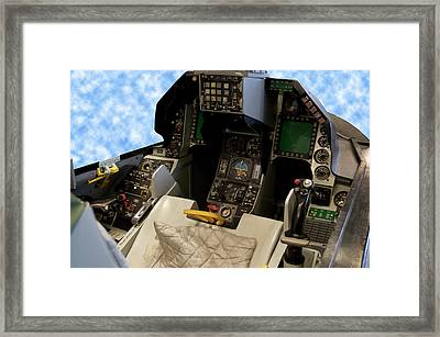 Fighter Jet Cockpit 01 Framed Print